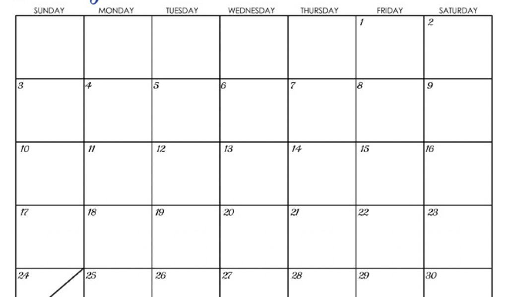 April 2016 Calendar Editable