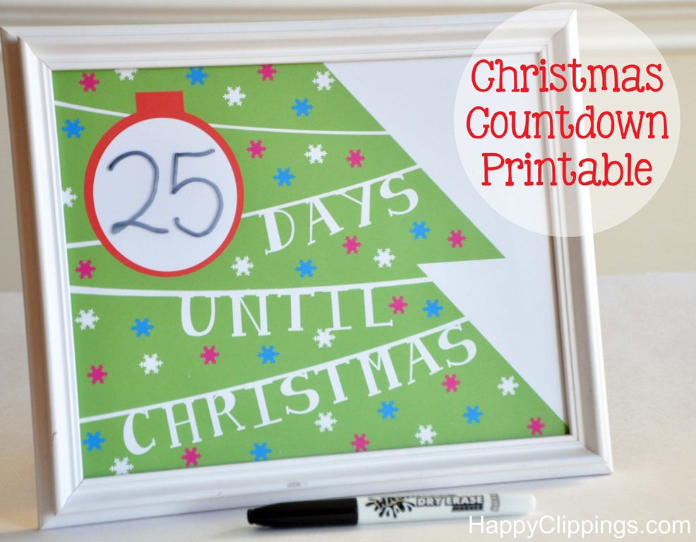 Best Photos Of Christmas Countdown Calendar Printable