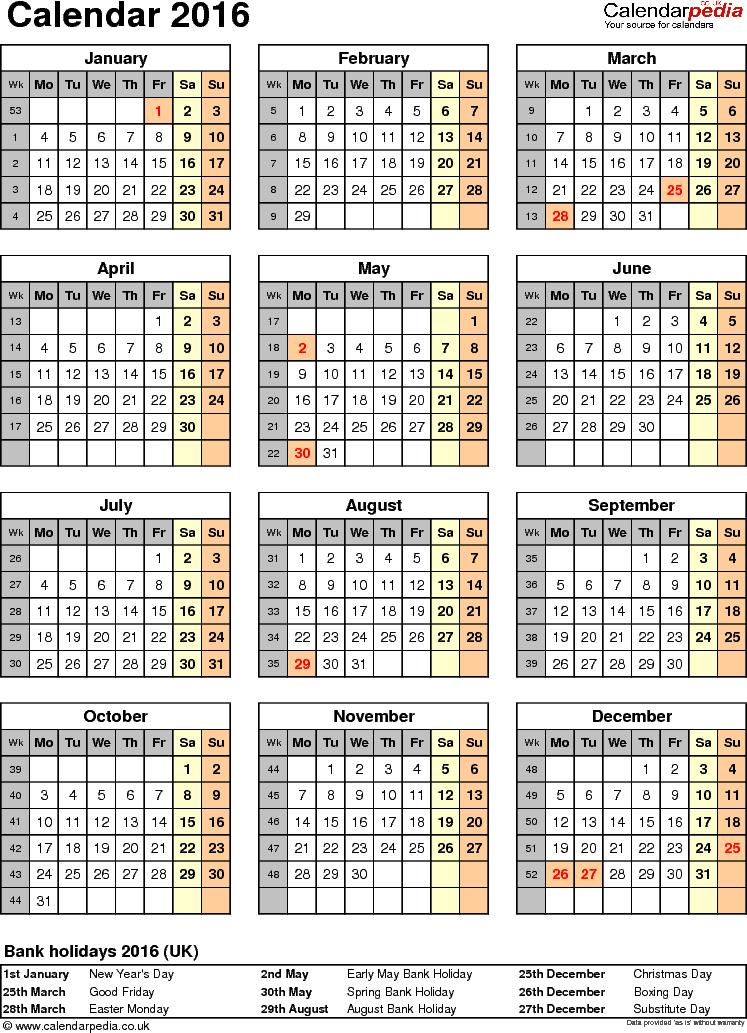 Calendar 2016 (uk)