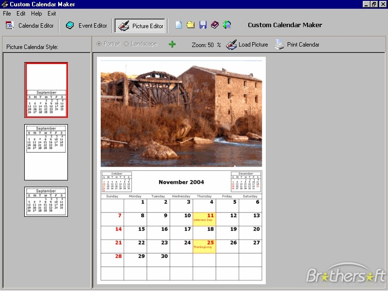 Calendar Creator Some Free Clipart Scrappin Printables Pint Ogxiu