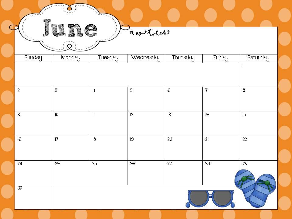 Calendar Template 2012 For Teachers