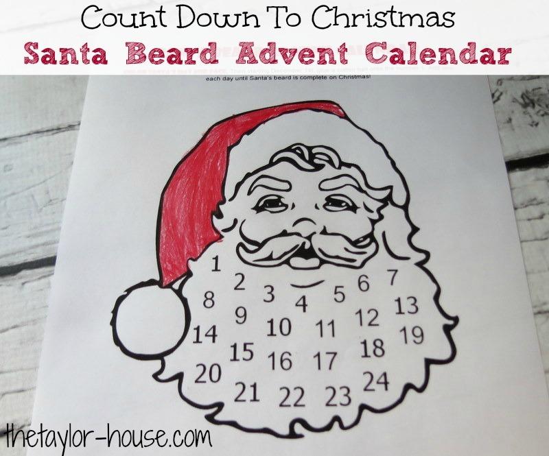 Count Down To Christmas  Santa Beard Advent Calendar
