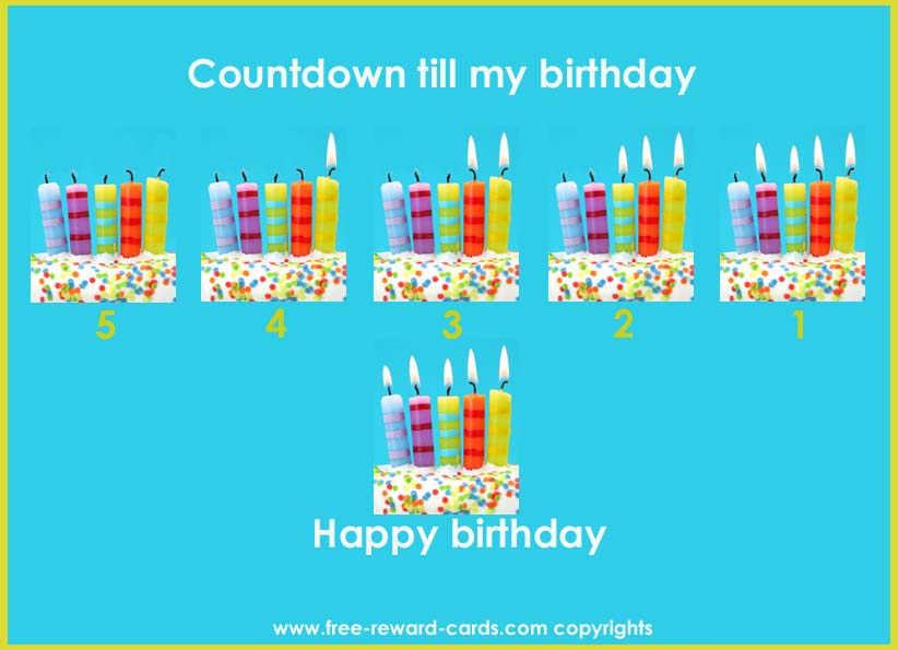 Countdown Calendar Birthday