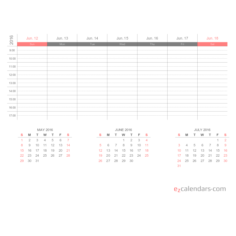 Create Free Printable Monthly, Yearly Or Weekly Calendars