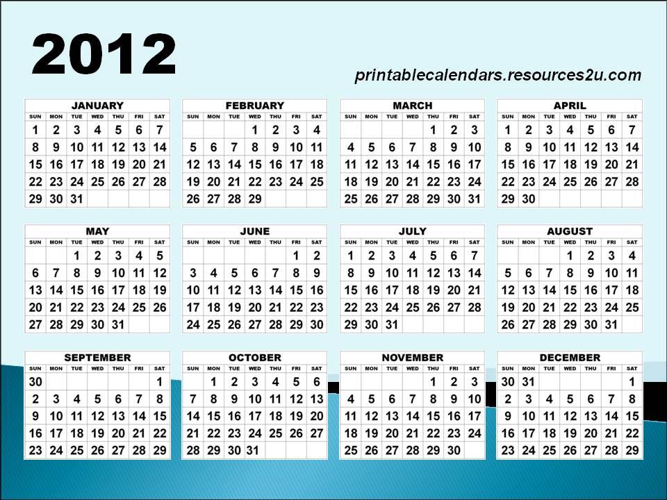 Create Online Calendar 2012