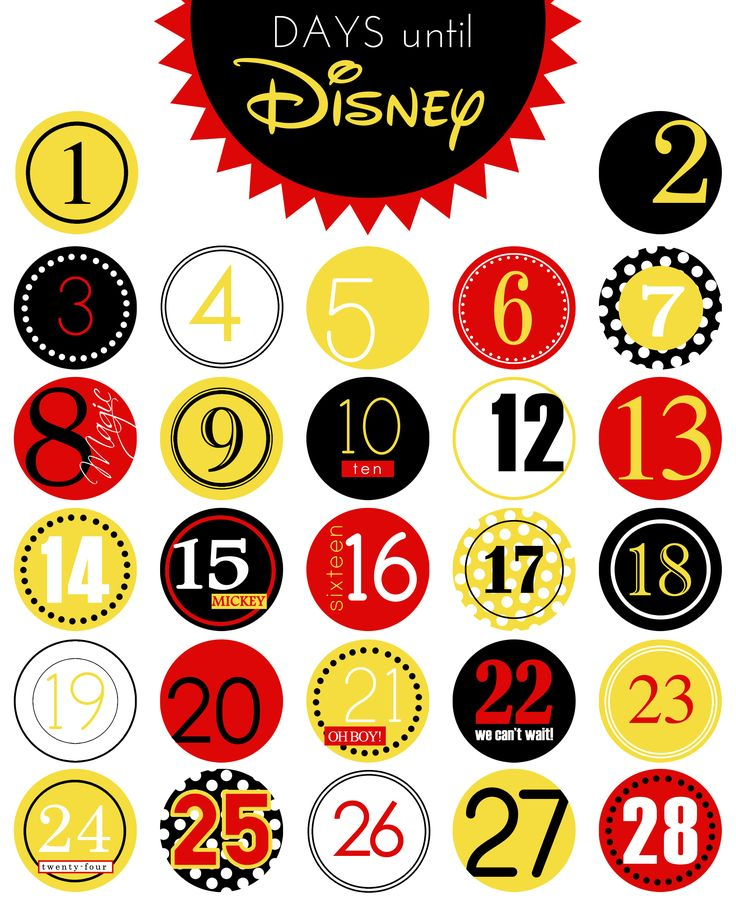 Days Until Disney