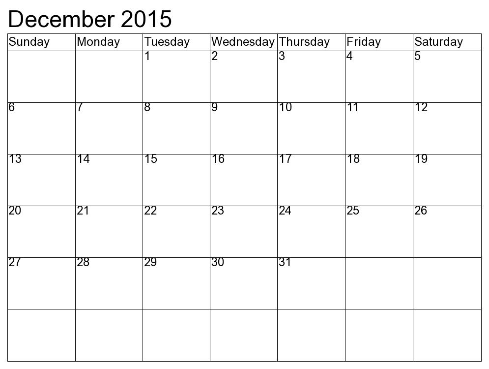 December And January Printable Calendars