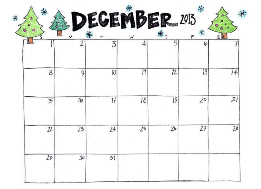 photograph about December Calendar Printable known as Printable December Calendars Calendar Template 2019