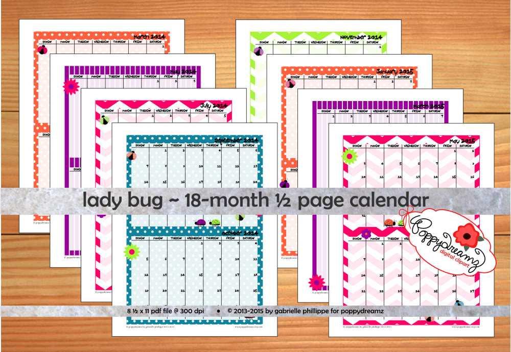 Decorative Printable Monthly Calendar December 2015