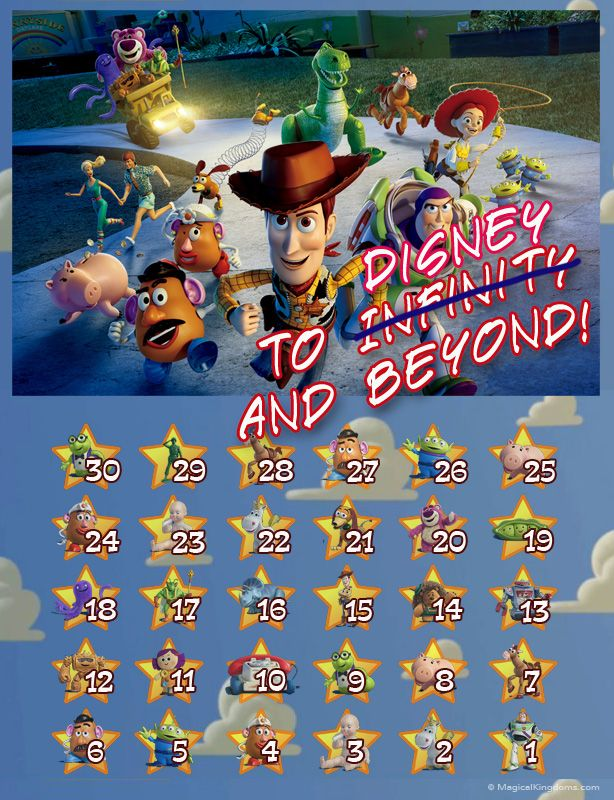 photo relating to Disney Countdown Calendar Printable referred to as Disney Countdown Calendar Printable Calendar Template 2019
