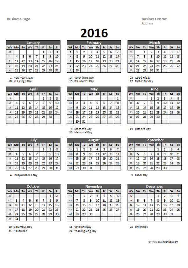 Quarterly Calendar Template Excel Leoncapers
