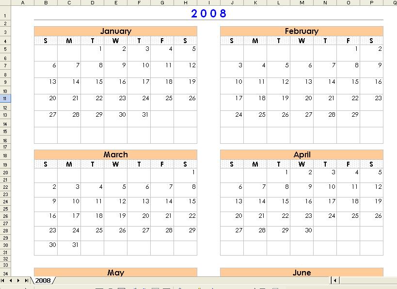 4 Month Calendar Printable » Calendar Template 2017