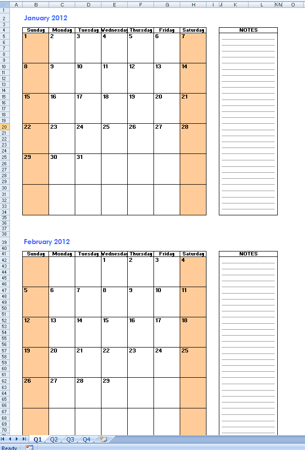 Two Month Printable Calendar Zrom