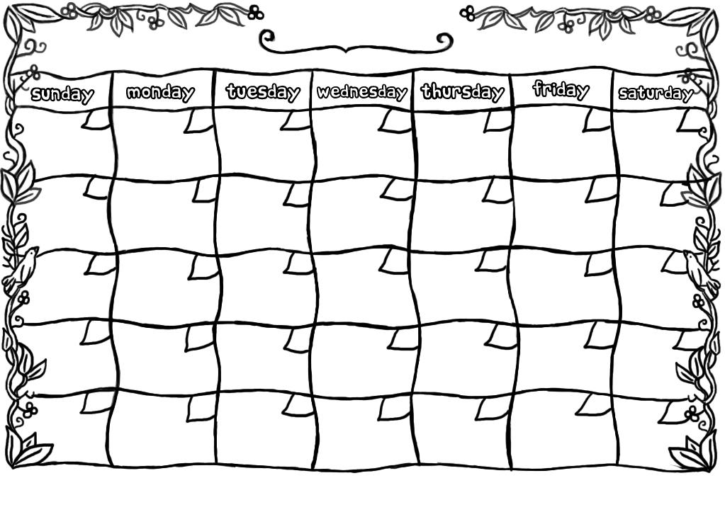 Free Blank Calendar Template