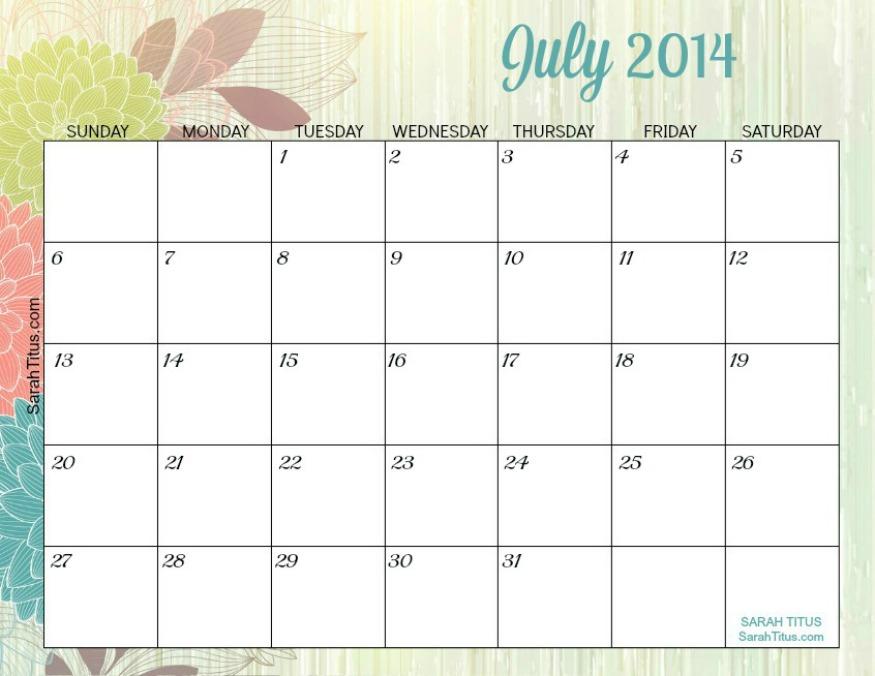 Free Blank Online Calendar