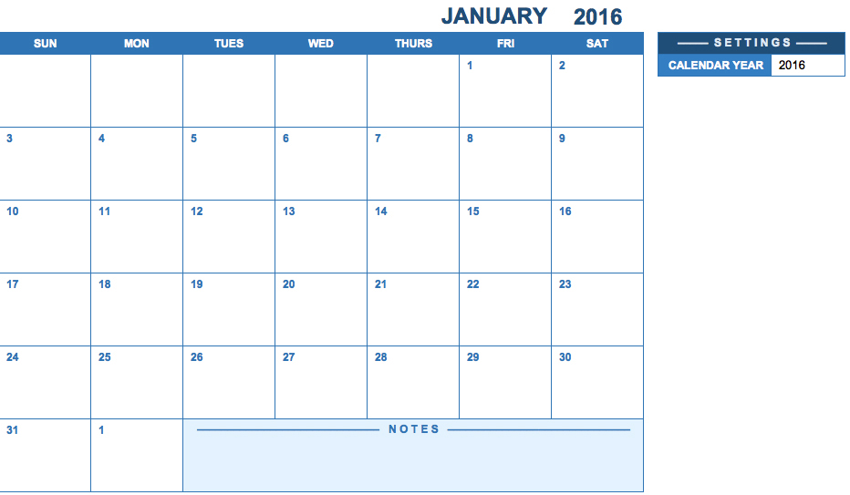 Free Printable Yearly Calendar Templates  Calendar Template