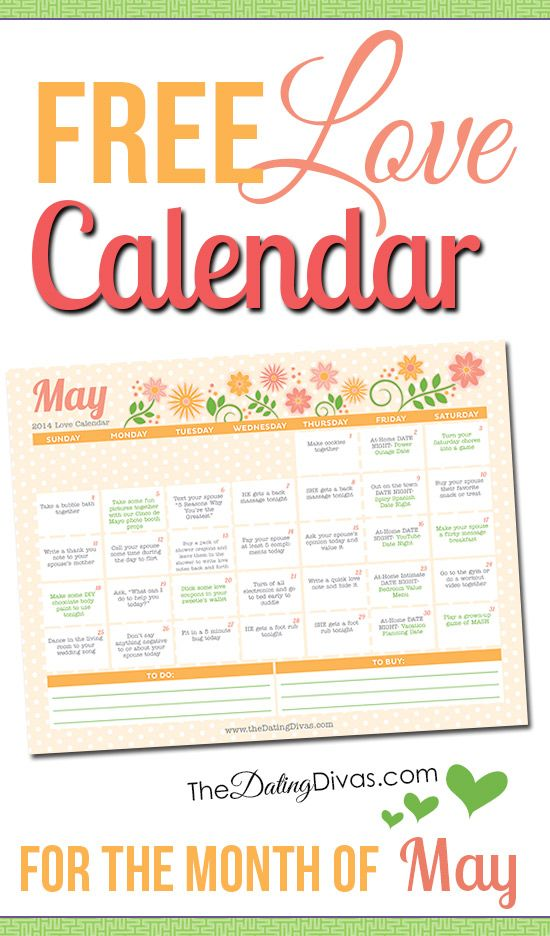 Free May Love Calendar