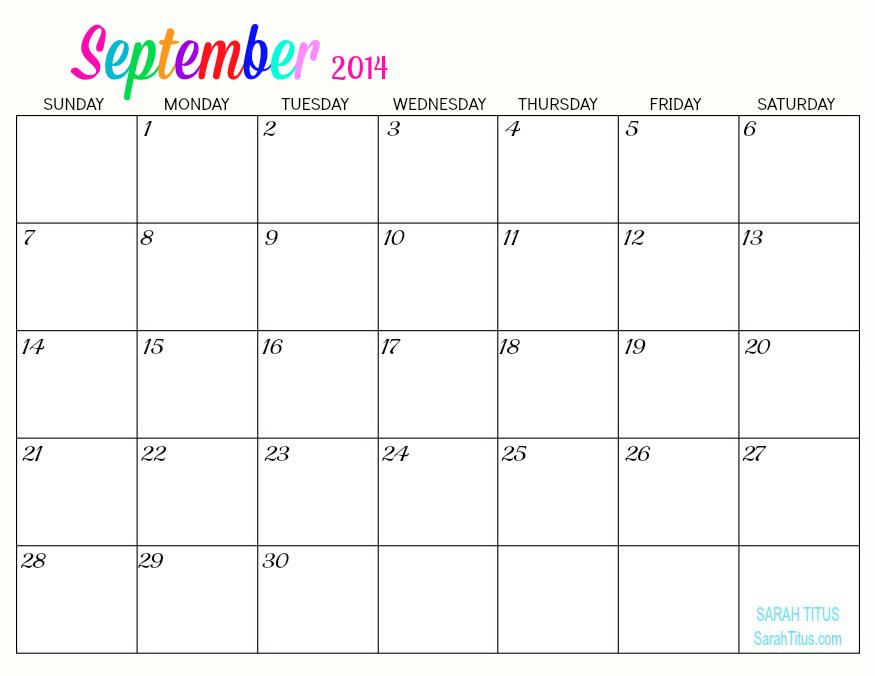 Printable Calendars 2014 15 Printable Calendar