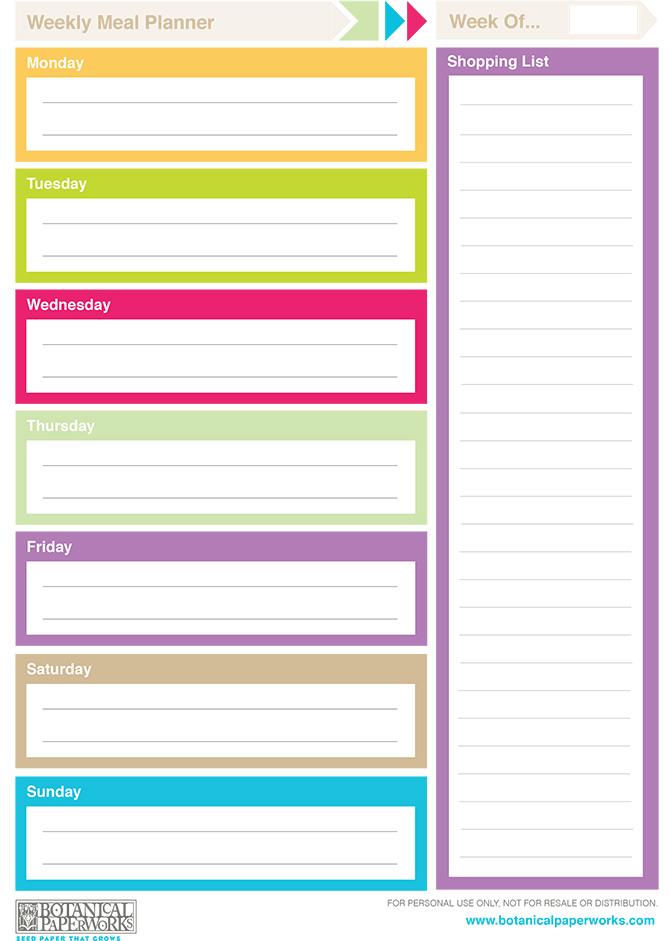 Free Printable} 2014 Weekly Planners