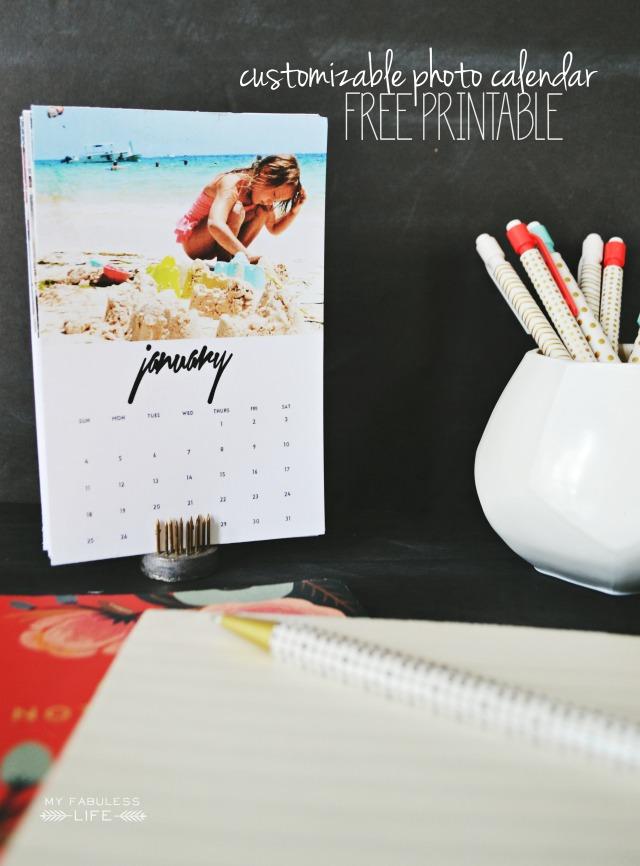 Free Printable 2015 Desk Calendar