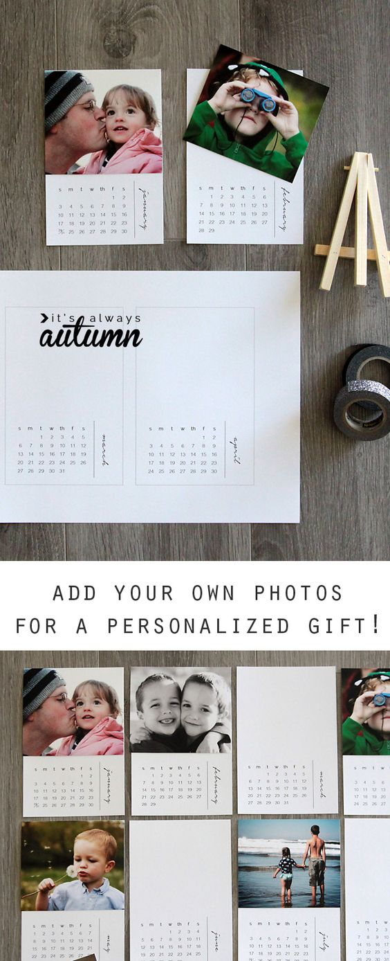 Free Printable 2016 Mini Diy Photo Calendar {great Gift Idea
