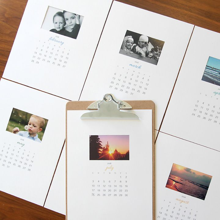 Free Printable 2016 Photo Calendar {great Diy Gift Idea