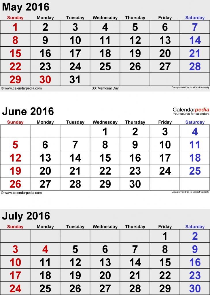 4 month printable calendar 2018