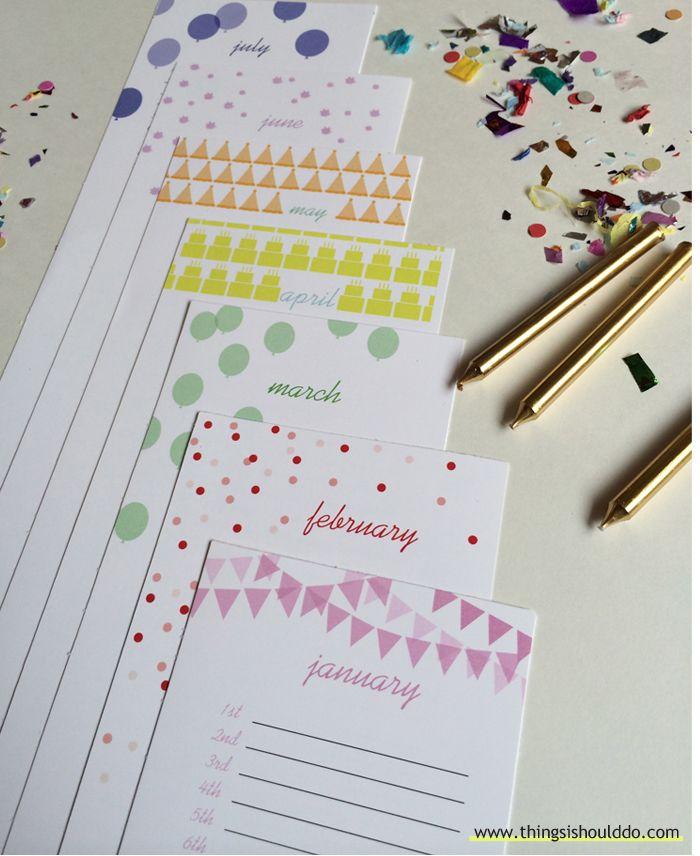 Free Printable  The Perpetual Birthday Calendar