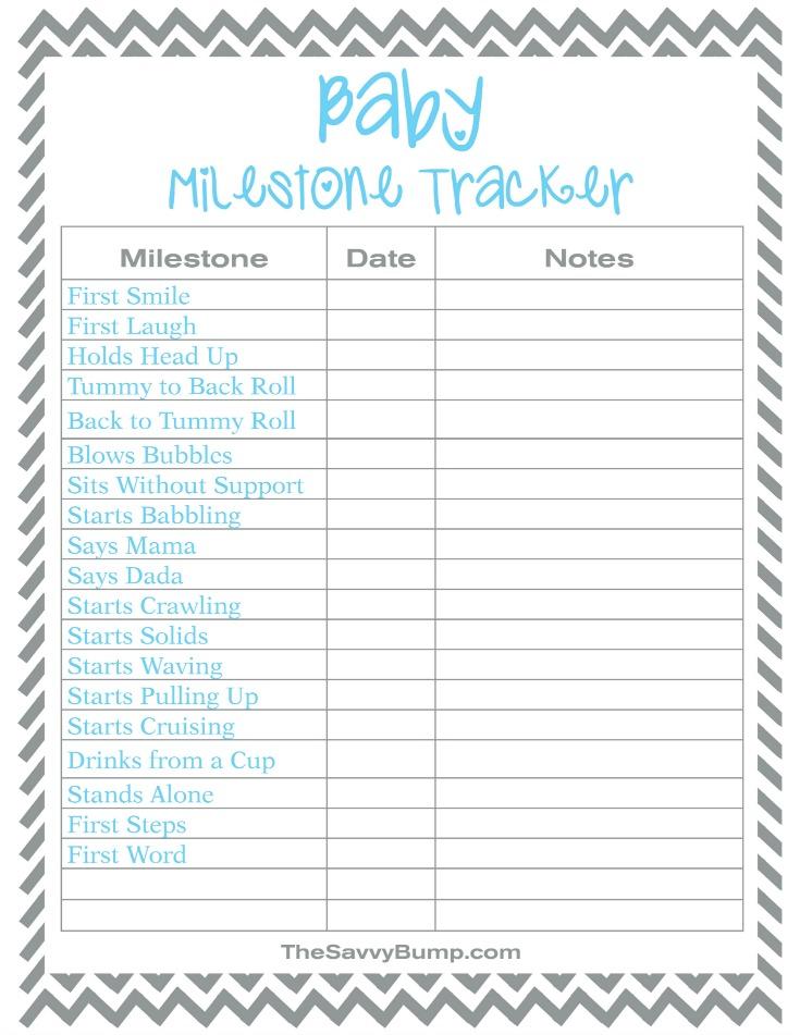 Free Printable Baby Milestone Tracker