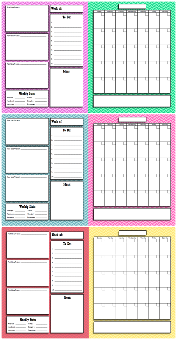 Free Printable Blog Planner And Calendar