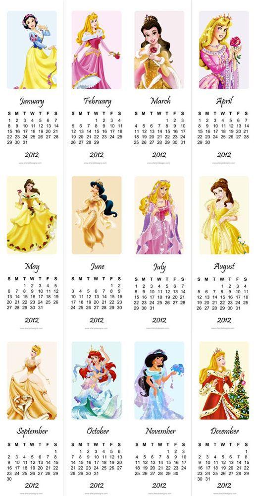 Free Printable Cute Calendars Of 2012