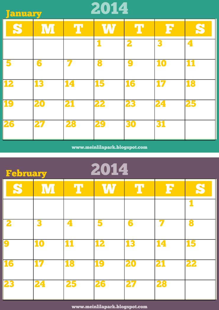 Printable 2 Month Calendar Calendar Template 2018