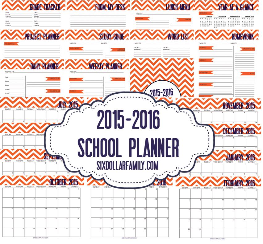 Free Printable Student Calendar!