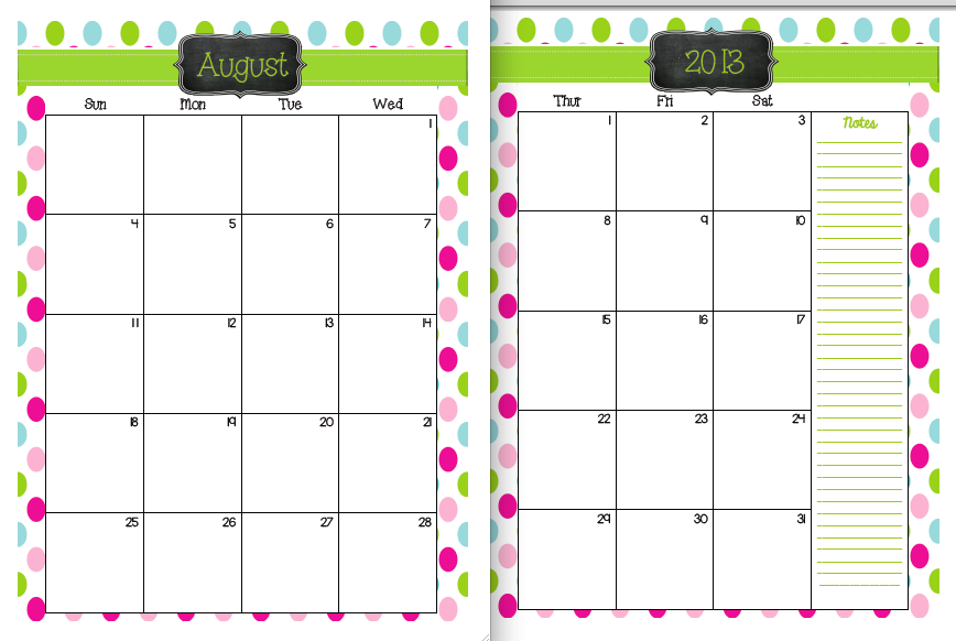 teachers printable calendar calendar template 2018