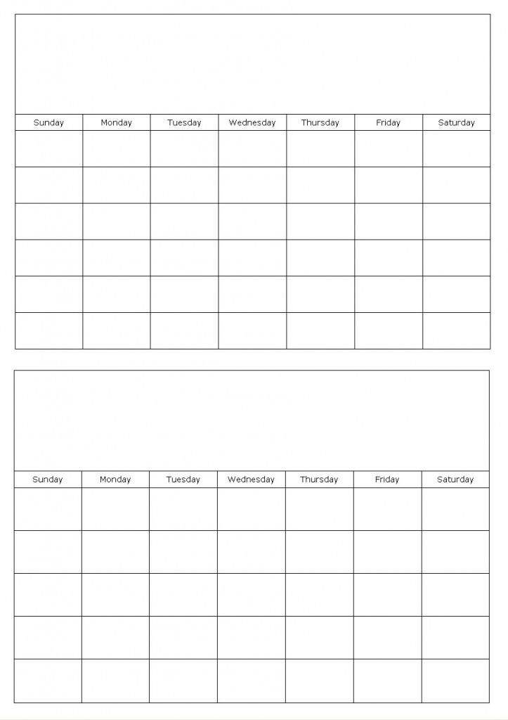 Get A Monthly Calendar Template