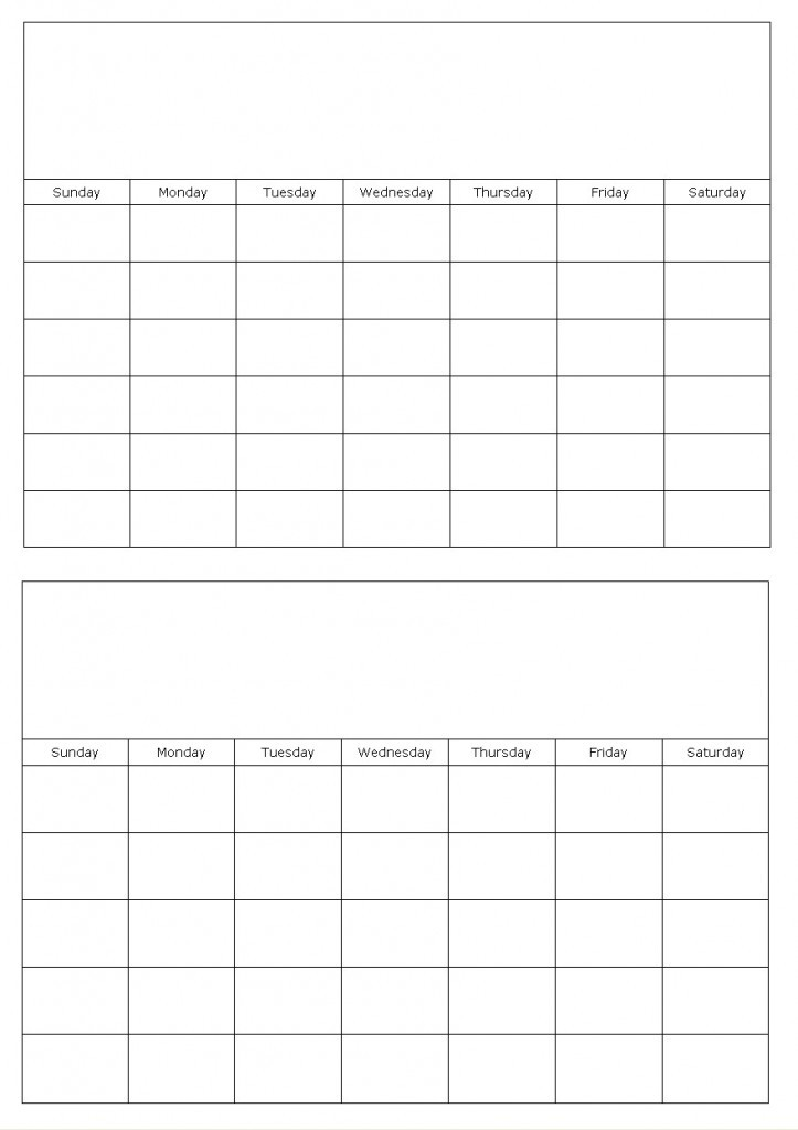 Two Month Printable Calendar Calendar Template 2018