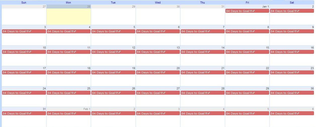 How To Create A 12 Week Weight Loss Countdown Calendar To Burn