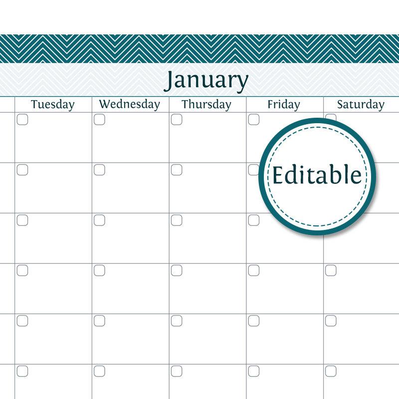 Items Similar To 2015 Printable Calendar, 2015 Desk Calendar, 12