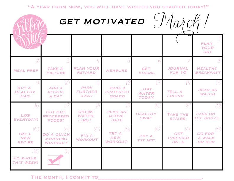 It's March! Get Motivated With This Printable Calendar!