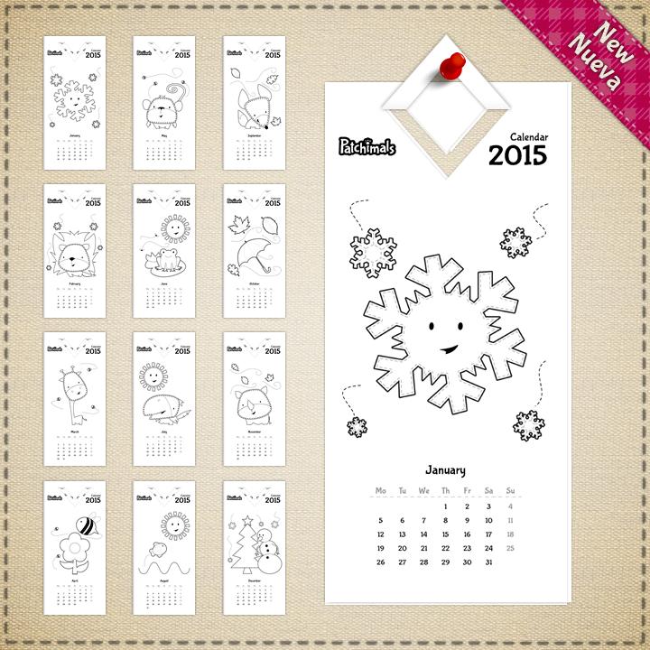 Kids 2015 Printable Calendar