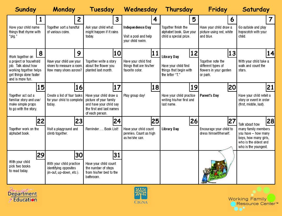 Printable Kindergarten Calendar Worksheets : Free printable calendar worksheets template