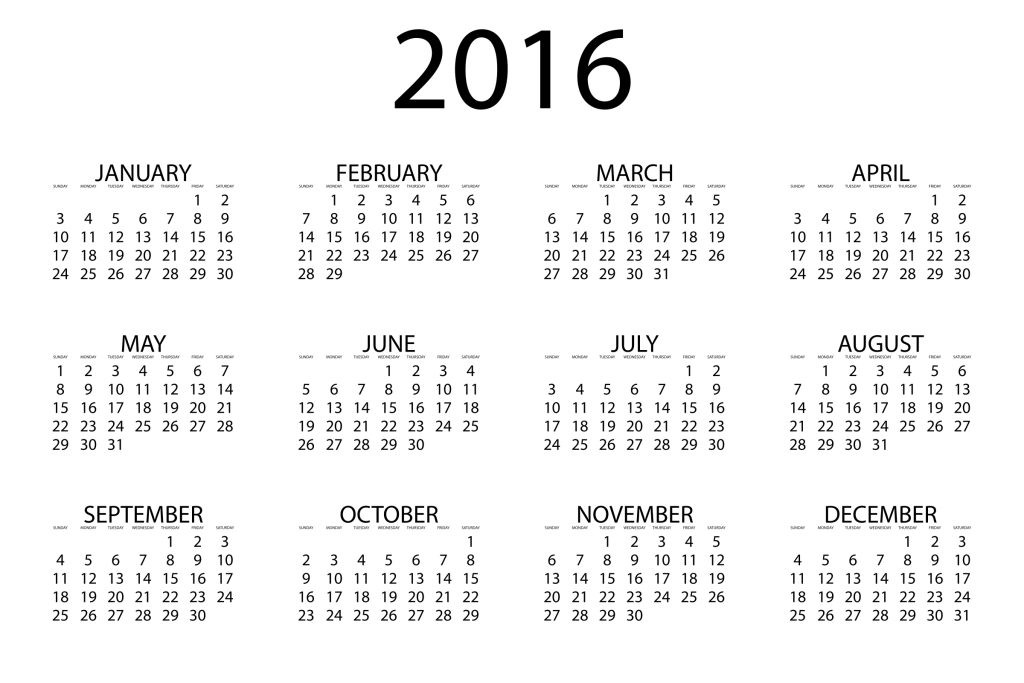 Large Print Calendars 2016