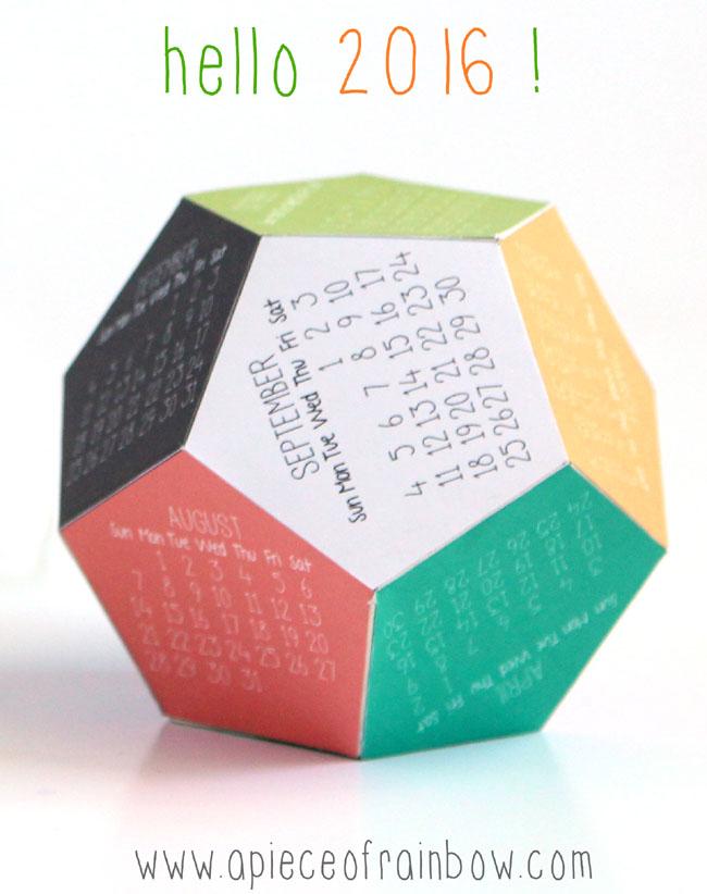 Make A 3d 2016 Printable Calendar