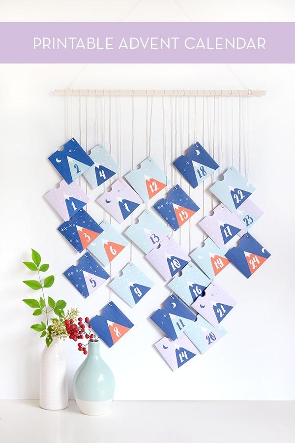 Make It  Printable Mountain Advent Calendar » Curbly