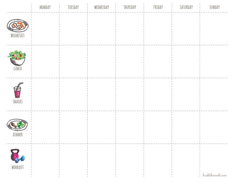 Menu + Exercise Planner (free Printable!)