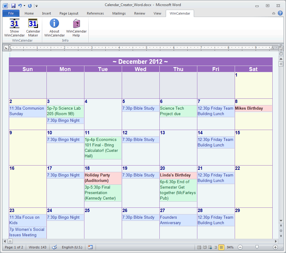 News And Entertainment  Calendar (jan 05 2013 21 35 57)