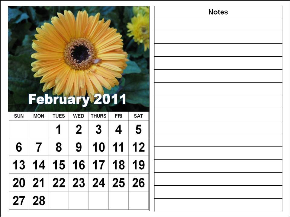 Njyloolus  Printable Calendars 2011 Monthly