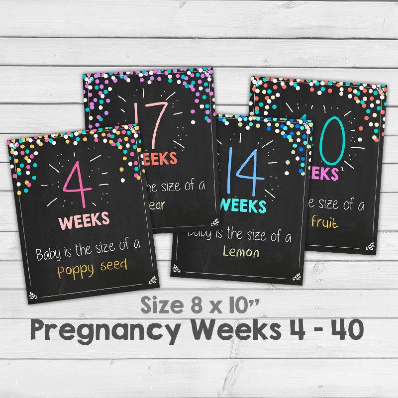 Pregnancy Weeks Pregnancy Chalkboard Week By By Anietillustration