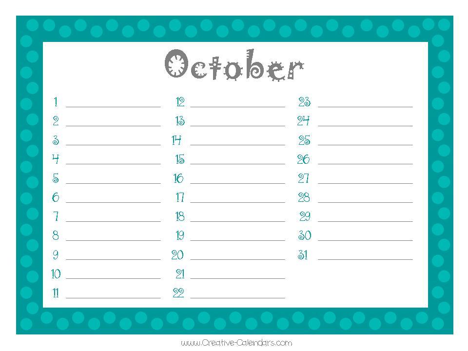 Printable Birthday Calendar — Crafthubs