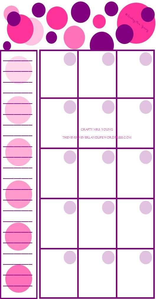 blank monthly calander
